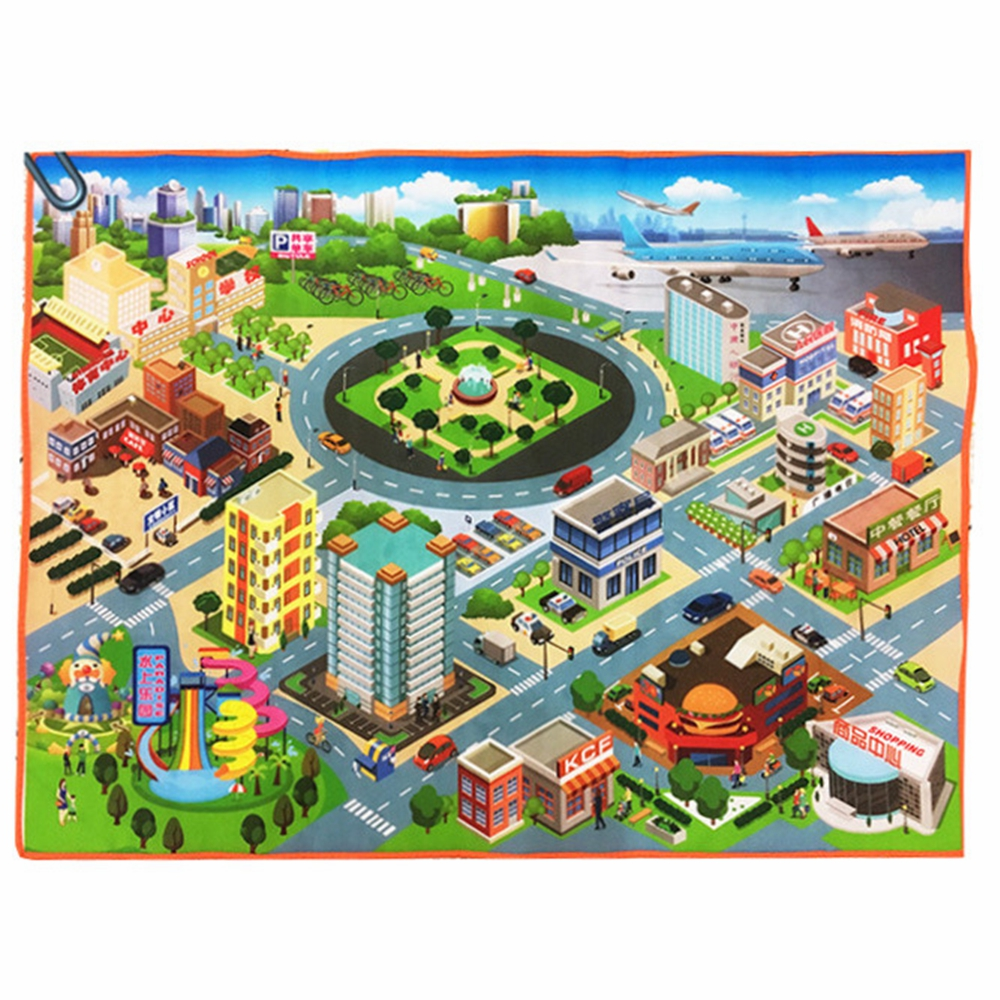 125*95cm Beautiful Traffic Route Map Crawling Mat Baby Game Pad City Road Carpets Play Mat For Children Toys Developing Puzzle