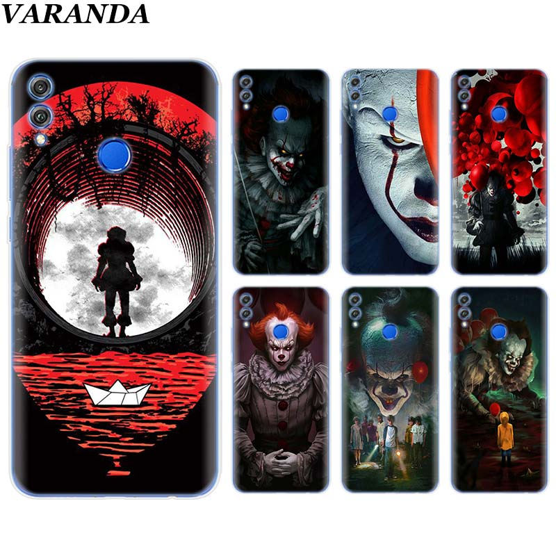 Pennywise Clown Horror Soft Case for Huawei <font><b>Honor</b></font> 8X 8C 8S 8A <font><b>9</b></font> 10 <font><b>Lite</b></font> 20i View 20 Y6 Y7 Y9 2019 Case Coque image