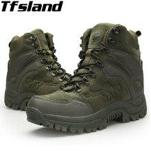 Tfsland/мужские военные ботинки для пустыни; армейские ботинки для походов; ; мягкая обувь; водонепроницаемые армейские ботинки; кроссовки; ботильоны