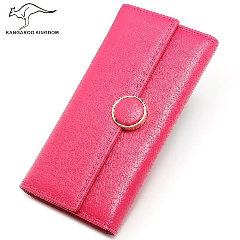 Фотография KANGAROO KINGDOM fashion women wallets brand long trifold lady clutch wallet ID card holder purse