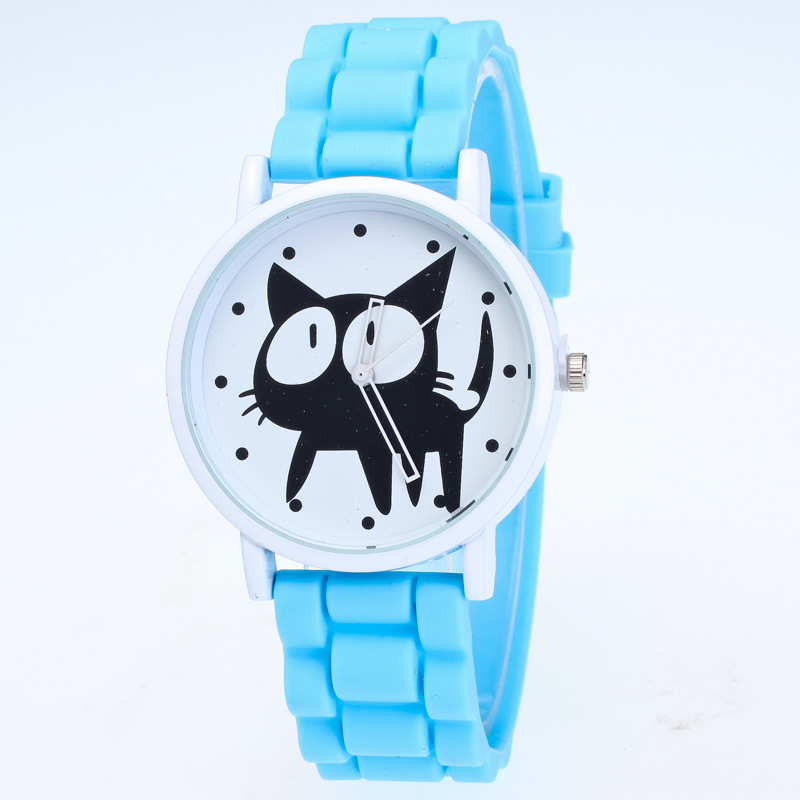 MINHIN Silicone Watches Women Kids Cute Cat Design Watches Fashion Casual Sports Quartz Wrist Watch Relogio Feminino