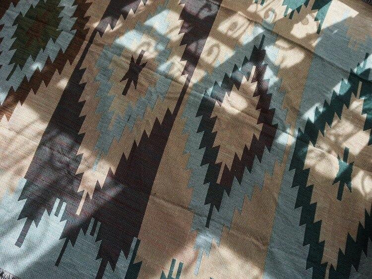Puro algodão nostalgia Retro Tibet Étnica Arte tapete cobertor fino cobertor tampa de cama quarto sala Toalha de Mesa tapeçaria de Feltros - 6