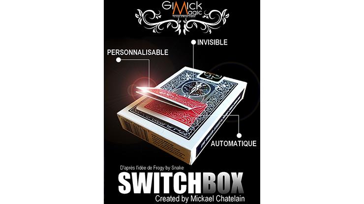 SWITCHBOX (Gimmick e Instruções Online) por Mickael Chatelain/cartão de close-up de rua truques de mágica por atacado