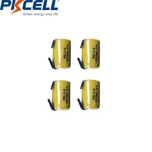 Image 3 - 10 قطعة PKCELL 4/5 SC Sub C 1.2 فولت بطارية نيكل كادميوم 1200MAH SC بطاريات قابلة للشحن مع علامات التبويب لحام كهربائي الحفر مفك