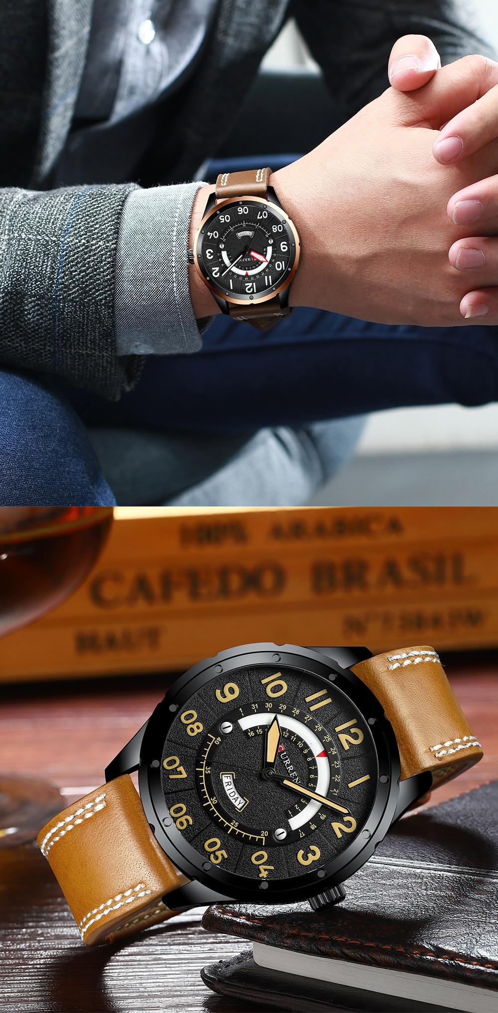 HTB1dYBsaEH1gK0jSZSyq6xtlpXab CURREN Date Mens Watches Luxury Sport Watch