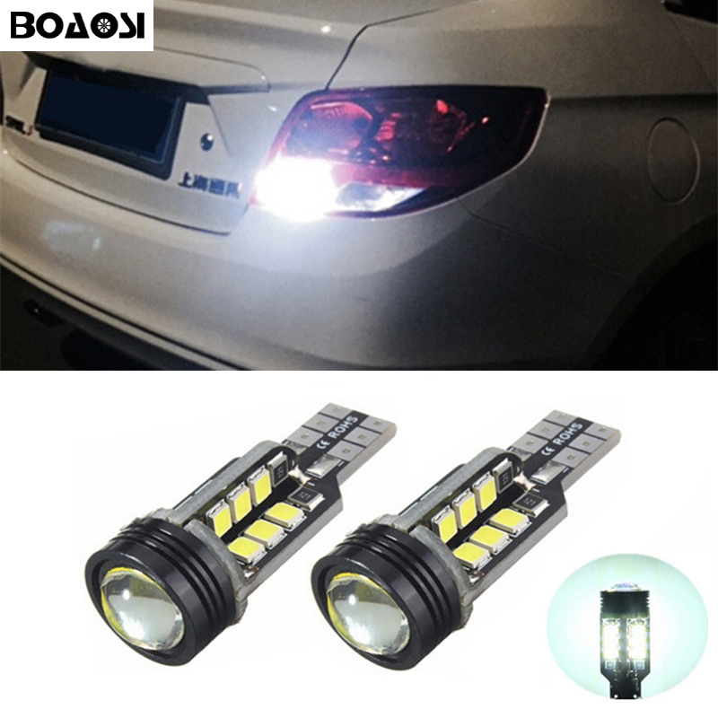 BOAOSI 2x Canbus Car LED Lamp W16W Led T15 2835 CREE Chip Backup Reverse Lights for Chevrolet Cruze Malibu Epica CAPTIVA Equinox wljh 11x canbus 2835 smd led dome map interior light kit for chevrolet cruze equinox sonic malibu spark suburban traverse 2015
