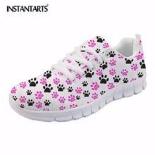 1c095b6db09 INSTANTARTS Vrouwen Casual Platte Schoenen Zachte vrouwen Sneakers Dames  Air Mesh Flats Footprint Ontwerpen Ademend Lopen Schoen.