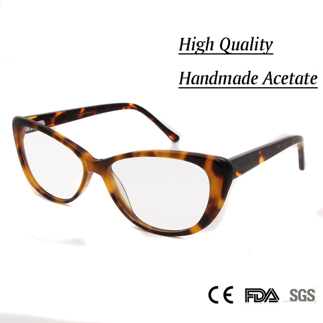 New High Quality Handmade Myopia Glasses Female Sexy Cat Frame Glass Clear Glasses Women Optical oculos de grau feminino