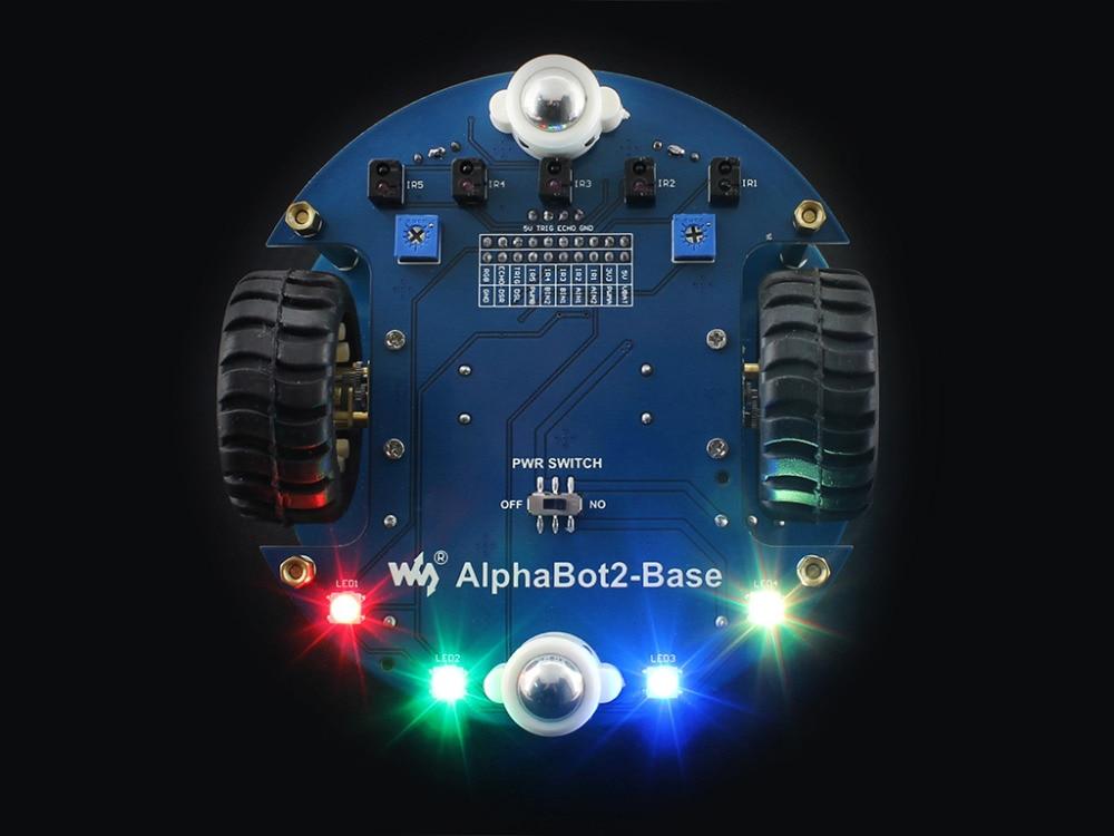 Image 5 - Raspberry Pi 3 Model B умный автомобиль аксессуар пакет AlphaBot2 робот строительный комплект с камерой 16 Гб Micro SD карта ИК пульт дистанционного управления-in Доски для показов from Компьютер и офис