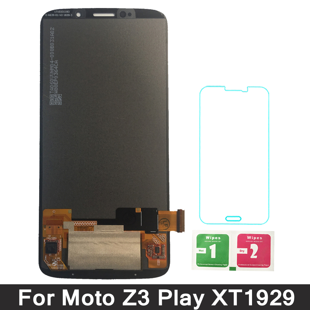 For Motorola Moto Z3 Play XT1929 XT-1929 LCD Display Screen with Touch Panel Digitizer Glass Sensor AssemblyFor Motorola Moto Z3 Play XT1929 XT-1929 LCD Display Screen with Touch Panel Digitizer Glass Sensor Assembly