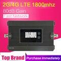 Puissance 80dB Gain 4G LTE 1800 mhz Signal cellulaire Booster bande 3 27dBm 4G DCS 1800 répéteur de Signal Mobile 4G amplificateur LCD affichage