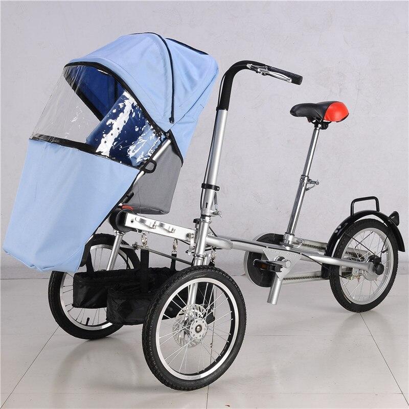 Мамам и детям активности и Шестерни Детские коляски три колеса коляски с дождевик TaGa детская велосипед коляска Мумия велосипед коляска