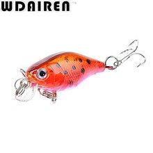 1Pcs 4.5cm 4g Crank Fishing Lures Hard Bait Minnow Fishing Lure Bass Crankbait Swimbait Trout Baits with 10# hooks Tackle