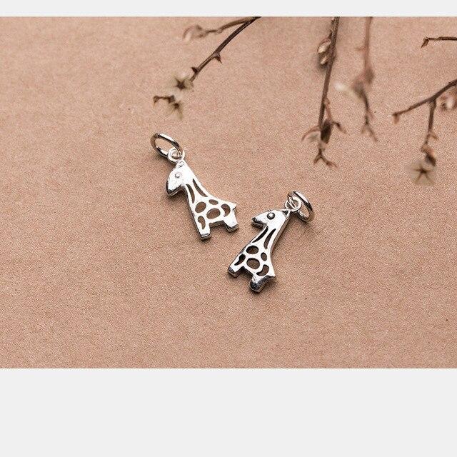 Купить uqbing винтажные мини шармы в виде жирафа серебряного цвета картинки
