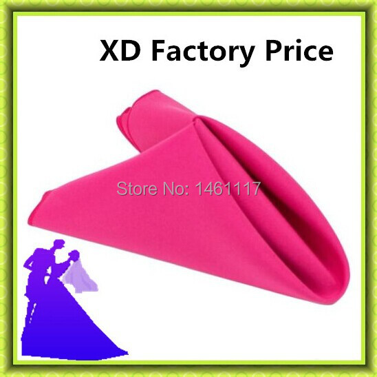 100pcs/lot 20x20 Polyester plain napkin match the table cloth factory manufacture