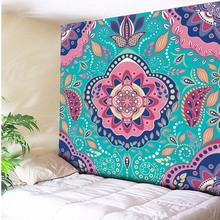 Ethnic Tribe Bohemian Tapestry Indian Mandala Style Psychedelic Wall Hanging Living Room Decorative Wall Rugs Beach Towel 3 Size