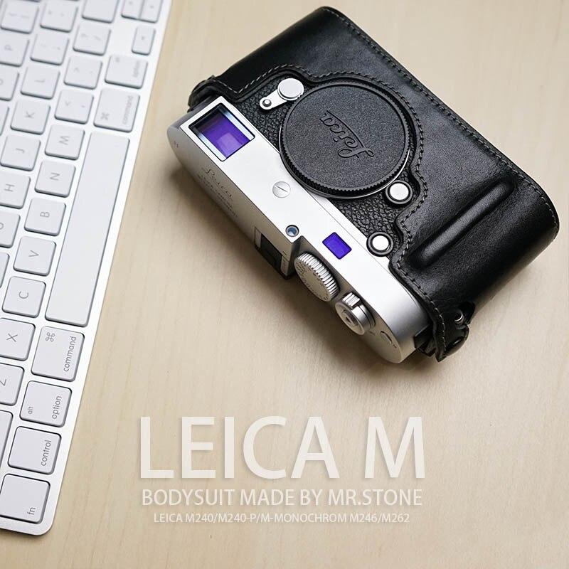 M. Pierre À La Main Véritable En Cuir Camera case Vidéo Demi Sac Caméra Body Pour Leica M240-P M240 M262 M246 Caméra