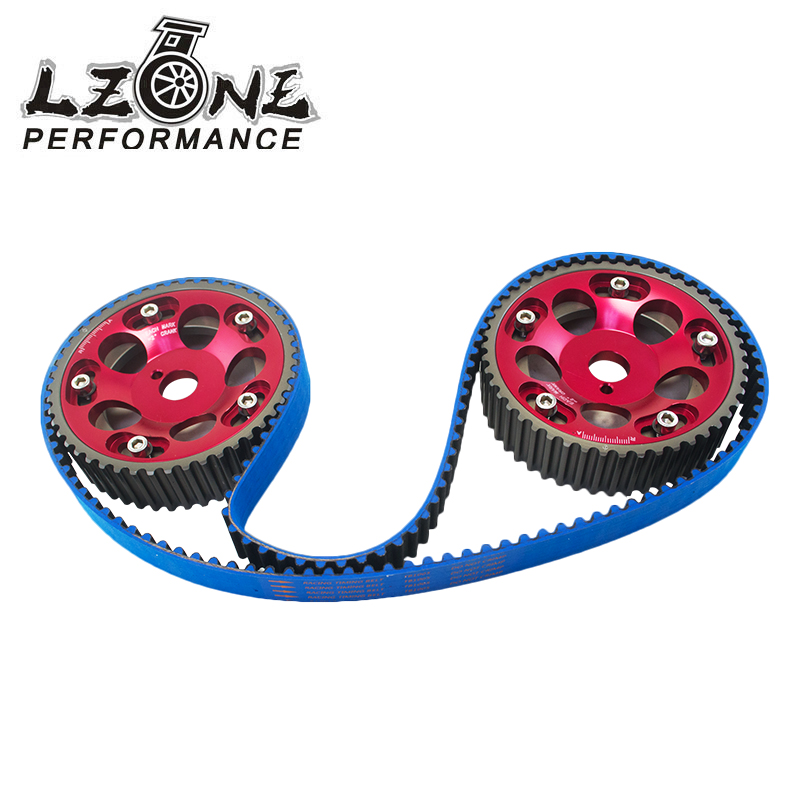 LZONE RACING - HNBR Racing Timing Belt BLUE + Aluminum Cam Gear Red FOR Toyota 1JZ 1JZGTE 1JZ-GTE JR-TB1005B+6531R vr racing hnbr racing timing belt
