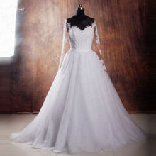 yiaibridal RSW1041 Detachable Long Sleeve Wedding Dresses
