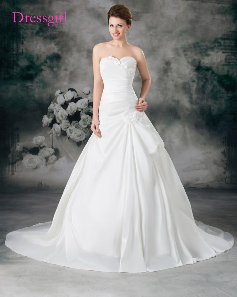 Cheap Vestido De Noiva 2019 Wedding Dresses Mermaid Sweetheart Flowers Backless Turkey Boho Wedding Gown Bridal Dresses