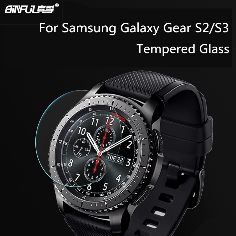 New arrival BINFUL 0.26mm 2.5D 9H Tempered Glass For Samsung Galaxy Gear S2 S3 Classic Ultra-thin Clear Screen Protector Film