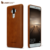 Jisoncase Genuine Leather Phone Case For Huawei Mate 9 Back Cover New Luxury Adorption Ultra Light