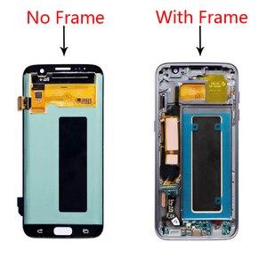 Image 5 - HotSale 5.5 לשרוף צל LCD עבור סמסונג גלקסי S7 קצה Lcd תצוגת G935F G935FD Lcd מסך עם משלוח מתנה S7Edge סוללה כיסוי