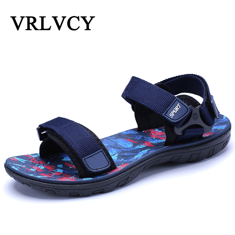 2018 Fashion Men's Beach Sandals High Quality Summer Shoes Flat Sandals Breathable Walking Men Sandals zeacava men s summer shoes breathable beach sandals