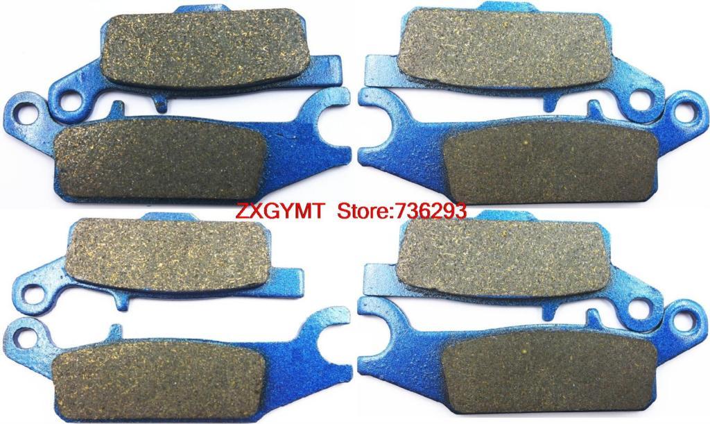 Atv Utv Semi Metallic Brake Pad Set fit YAMAHA YFM550 YFM 550 FGPW Grizzly 2009 up