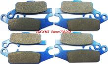 Atv / Utv Semi Metallic Brake Pad Set fit YAMAHA YFM550 YFM 550 FGPW Grizzly 2009 & up