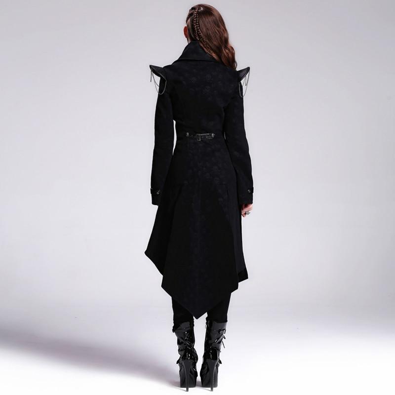 Devil Fashion Heavy Punk Rock Asymmetrische Langjacke Mäntel für - Damenbekleidung - Foto 3