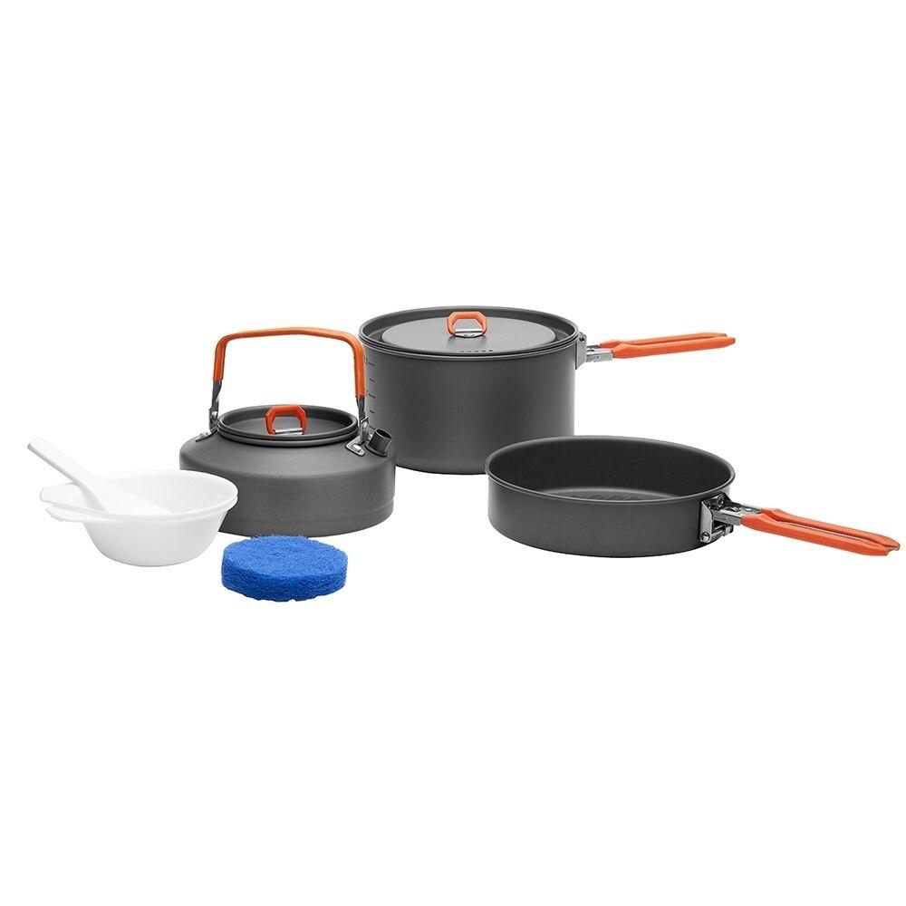Fire Maple Feast 2, походная кухонная посуда, чайник для пешего туризма, приготовления пищи, сковорода для пикника, набор кастрюль, снаряжение для ла...