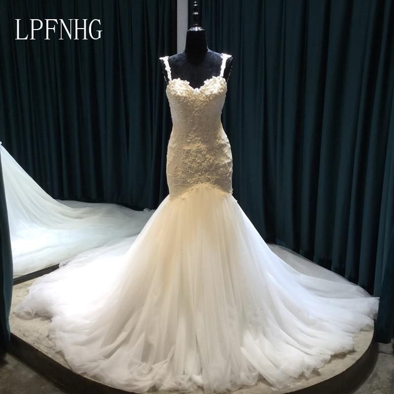 Vestido De Noiva Lace Sirena Vestidos de novia 2017 Sweetheart sin - Vestidos de novia