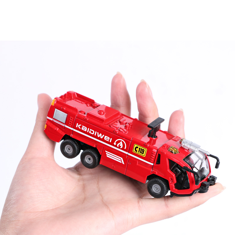 Toys & Hobbies Genteel Original Box Playmobile Juguetes Fireman 1:50 Alloy Engineering Vehicles,high Simulation Fire Rescue Airfield Fire Truck