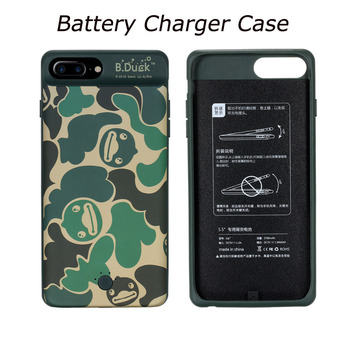 B.Duck Battery Charger Cases 3700mAh for iPhone 6 6s Plus 7 8 Plus Power Bank Case Battery Back Cover Adsorbable Phone Holder