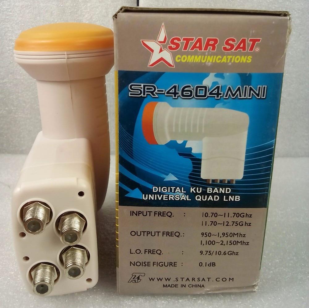 R$ 86 74 |2 PCS SR 4604 Melhor Sinal Full HD Universal KU STARSAT Quad Band  LNB antena parabólica de Alto Ganho Baixo ruído à prova d' água LNB em