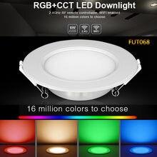 Fut068 6 Вт rgb + cct светодиодный светильник ac100 240v круглый