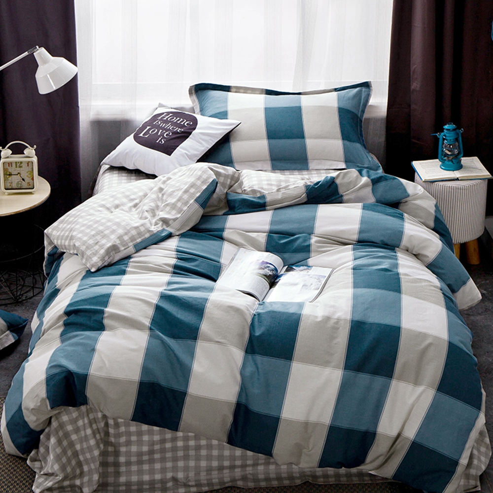 plaid duvet cover set for adults 100 cotton modern duvet cover soft bed sheets pillow - Modern Duvet Covers
