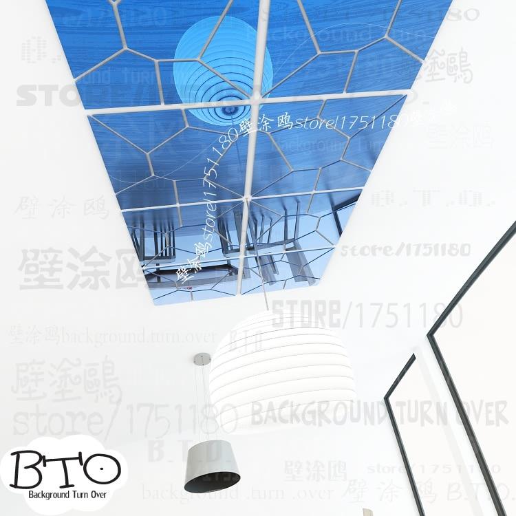 Heißer verkauf kristall form zusammenfassung 3d spiegel wandaufkleber schlafzimmer wohnzimmer sofa wandtattoo innen friseursalon decor R238 - 6