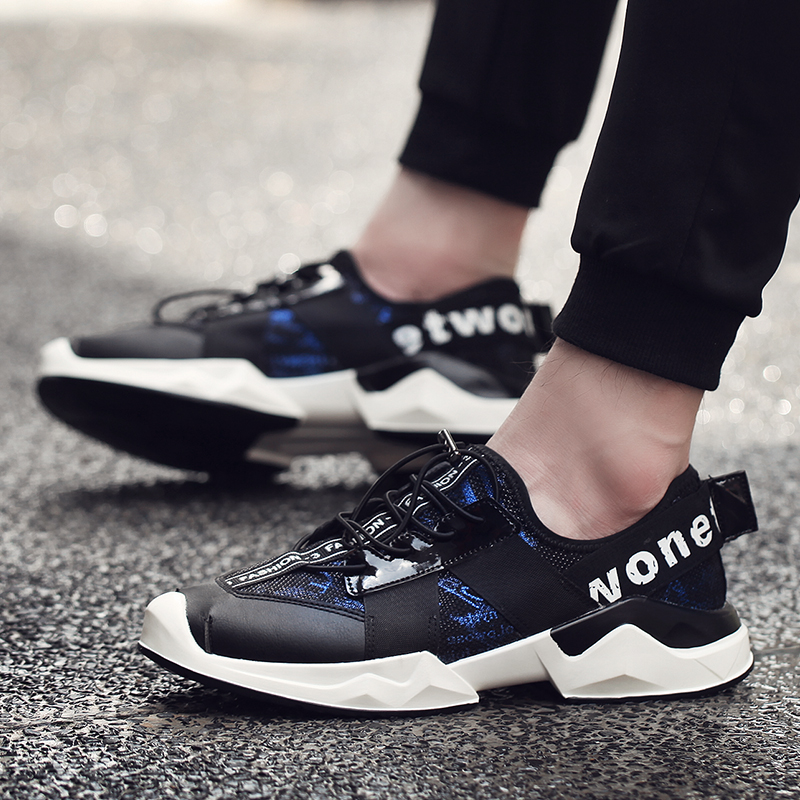 ZENVBNV 2018 Men Lacing System Running Shoe Run Lightweight Sport Shoes Breathable Outdoor Fly Weave Sneakers Gym Footwear