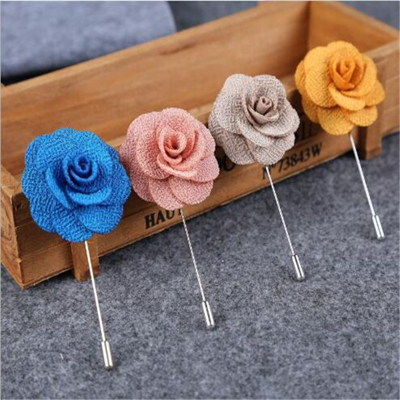 LUMPER-New-Lapel-17-colors-Flower-Daisy-Handmade-Boutonniere-Stick-Brooch-Pin-Men-Cool-Beautiful-Accessories