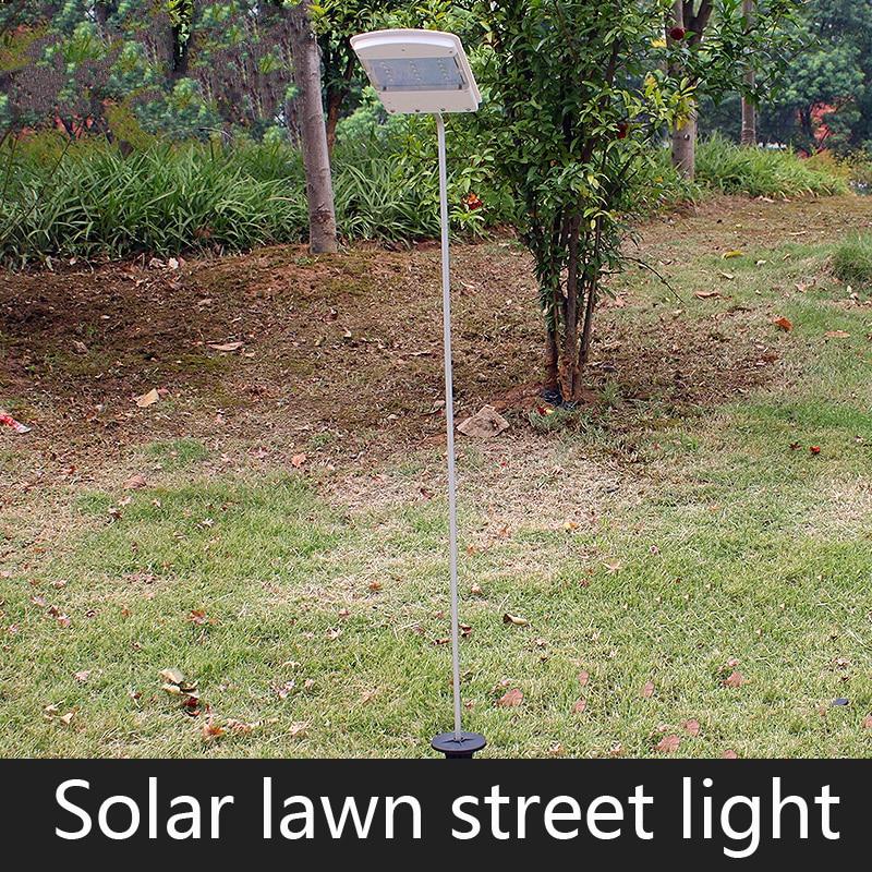 New LED Solar Panel Lawn Street Lights Waterproof Garden Outdoor Lamps Super Bright New Year Christmas Garland Luminaria Decor цена 2017