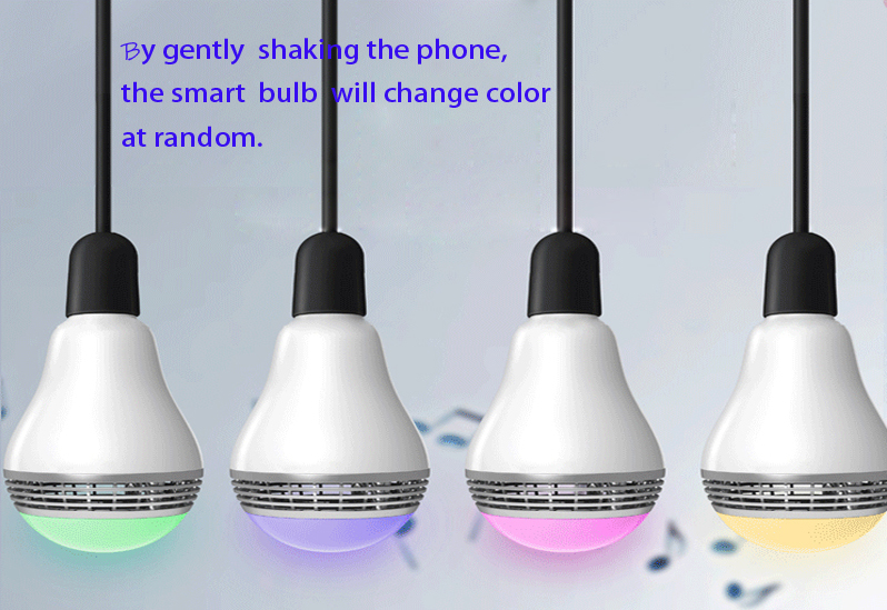 shaking phone to change the smart light color-bulb lamp