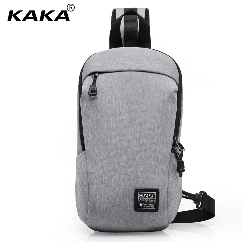 2017 New KAKA Korean Version Brand Design Men Fashion Waterproof Messenger bags Simple Chest Pack Shoulder Bag for Ipad Black 2017 new unisex men messenger bag chest pack brand design korean and japan style simple women shoulder cross body bags for ipad