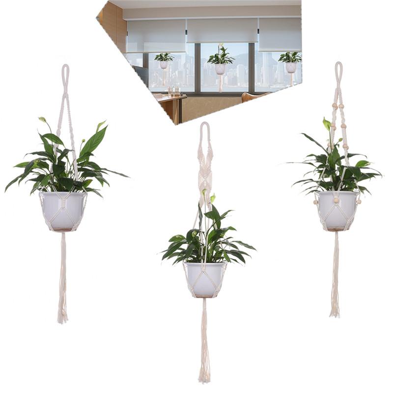 planta percha para colgar macetas balcn natural hecho a mano cuerda gancho para casa oficina parque jardn decoracin al aire l