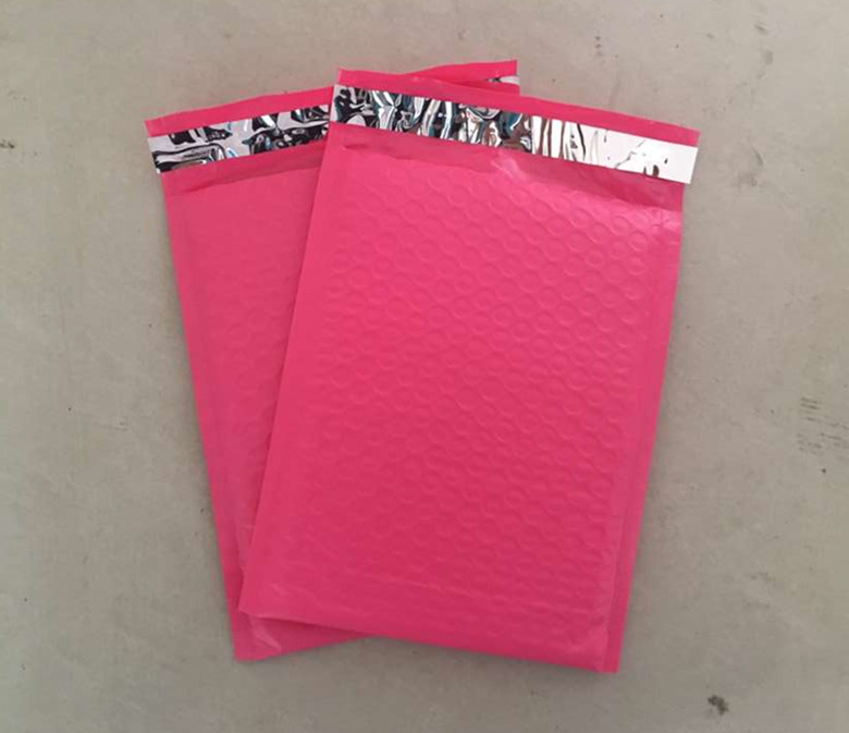 10pcs/lot 17x23cm+4cm Usable space pink Poly bubble Mailer envelopes padded Mailing Bag Self Sealing