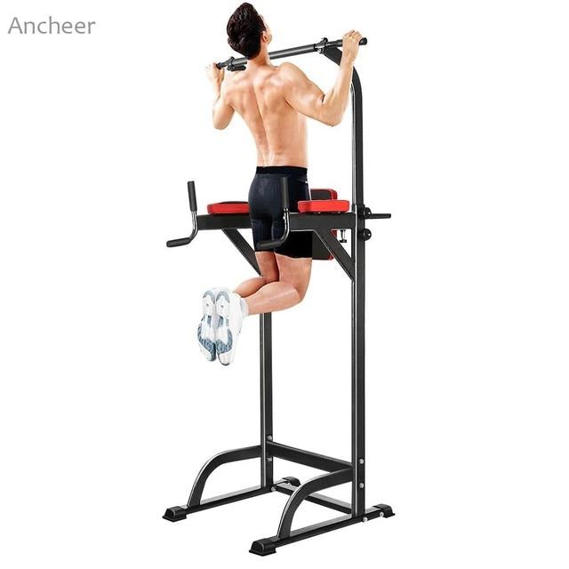 a0f70a4f2 ANCHEER Chin Up Bar Abs Ajustável Estação de Tríceps Treino Joelho Crunch Barra  de Puxar para