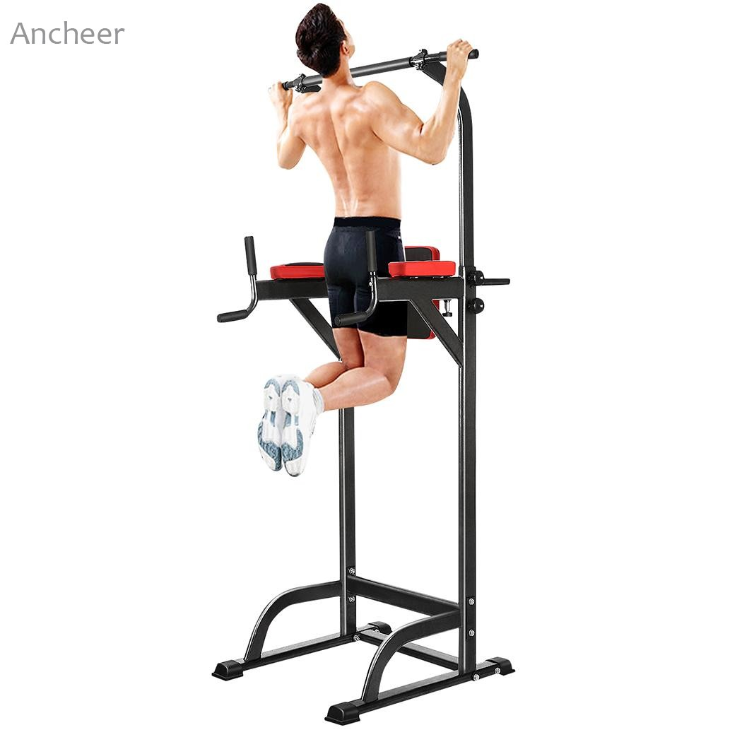 Abdominal straps crunch weight lifting door hanging gym chinning - Chin Up Bar Adjustable Abs Workout Knee Crunch Triceps Station Power Tower Pull Up Bar Sport