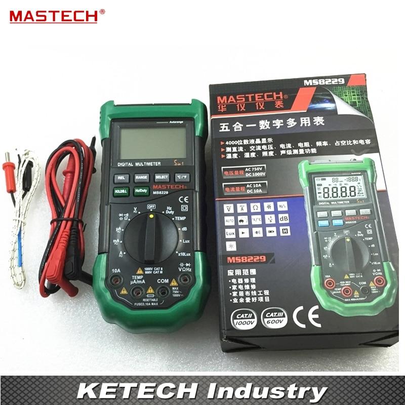купить Multifunction Digital Multimeter DC AC Voltage Current Tester MS8229 недорого