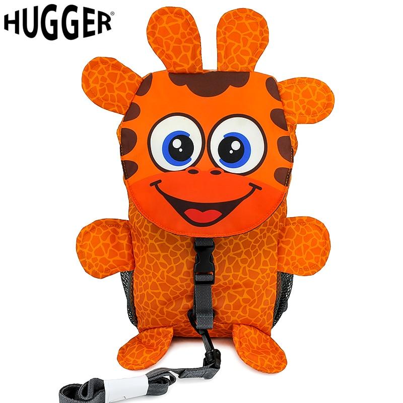 HUGGER Gerry Giraffe Design Backpack 3D Cartoon Style Safety Harness Backpack Infantis Children Schoolbag mochilas escolares школьный рюкзак other minecraft pack mochilas femininas sacos escolares bookbags ca13n393